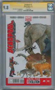 Deadpool #2 CGC 9.8 Signature Series Signed Tony Moore Marvel Now comic book